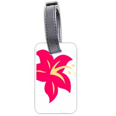 Flower Floral Lily Blossom Red Yellow Luggage Tags (two Sides) by Alisyart