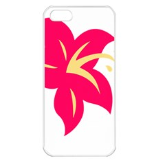 Flower Floral Lily Blossom Red Yellow Apple Iphone 5 Seamless Case (white) by Alisyart