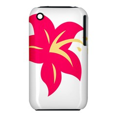 Flower Floral Lily Blossom Red Yellow Iphone 3s/3gs by Alisyart