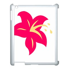 Flower Floral Lily Blossom Red Yellow Apple Ipad 3/4 Case (white)