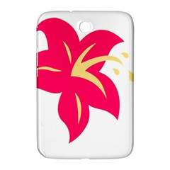 Flower Floral Lily Blossom Red Yellow Samsung Galaxy Note 8 0 N5100 Hardshell Case  by Alisyart
