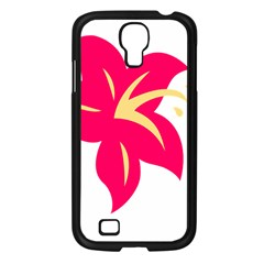 Flower Floral Lily Blossom Red Yellow Samsung Galaxy S4 I9500/ I9505 Case (black) by Alisyart