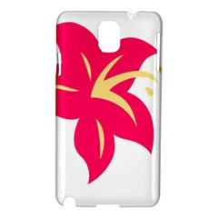 Flower Floral Lily Blossom Red Yellow Samsung Galaxy Note 3 N9005 Hardshell Case by Alisyart