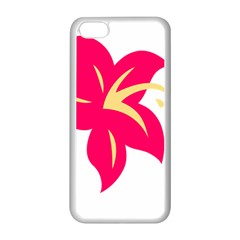 Flower Floral Lily Blossom Red Yellow Apple Iphone 5c Seamless Case (white)