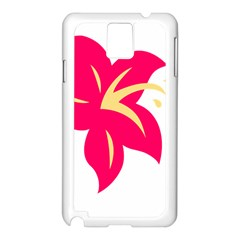 Flower Floral Lily Blossom Red Yellow Samsung Galaxy Note 3 N9005 Case (white)