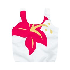 Flower Floral Lily Blossom Red Yellow Full Print Recycle Bags (m)  by Alisyart