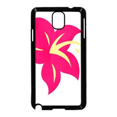 Flower Floral Lily Blossom Red Yellow Samsung Galaxy Note 3 Neo Hardshell Case (black)