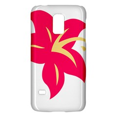 Flower Floral Lily Blossom Red Yellow Galaxy S5 Mini by Alisyart