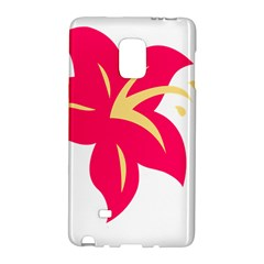 Flower Floral Lily Blossom Red Yellow Galaxy Note Edge by Alisyart