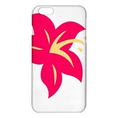 Flower Floral Lily Blossom Red Yellow Iphone 6 Plus/6s Plus Tpu Case