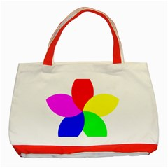 Fan Star Floral Classic Tote Bag (red) by Alisyart