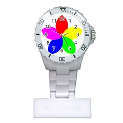 Fan Star Floral Plastic Nurses Watch