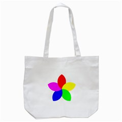 Fan Star Floral Tote Bag (white) by Alisyart