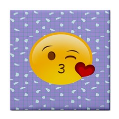 Face Smile Orange Red Heart Emoji Face Towel