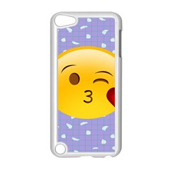 Face Smile Orange Red Heart Emoji Apple Ipod Touch 5 Case (white)