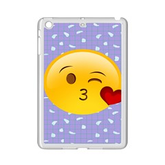 Face Smile Orange Red Heart Emoji Ipad Mini 2 Enamel Coated Cases