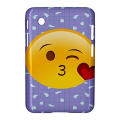 Face Smile Orange Red Heart Emoji Samsung Galaxy Tab 2 (7 ) P3100 Hardshell Case