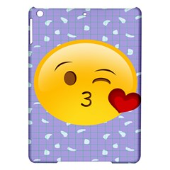 Face Smile Orange Red Heart Emoji Ipad Air Hardshell Cases
