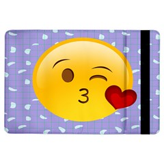 Face Smile Orange Red Heart Emoji Ipad Air Flip