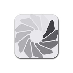 Flower Transparent Shadow Grey Rubber Square Coaster (4 Pack)  by Alisyart