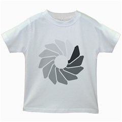 Flower Transparent Shadow Grey Kids White T Shirts by Alisyart