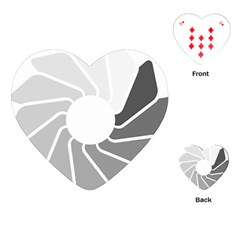 Flower Transparent Shadow Grey Playing Cards (heart)