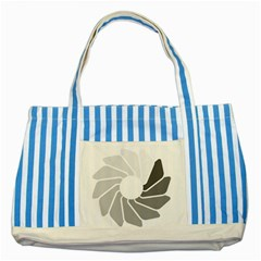 Flower Transparent Shadow Grey Striped Blue Tote Bag