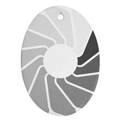 Flower Transparent Shadow Grey Oval Ornament (two Sides) by Alisyart