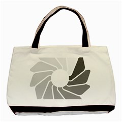 Flower Transparent Shadow Grey Basic Tote Bag (two Sides) by Alisyart