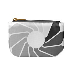 Flower Transparent Shadow Grey Mini Coin Purses