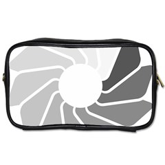 Flower Transparent Shadow Grey Toiletries Bags 2 Side