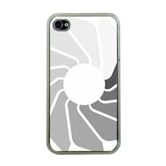 Flower Transparent Shadow Grey Apple Iphone 4 Case (clear) by Alisyart