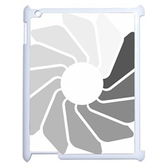 Flower Transparent Shadow Grey Apple Ipad 2 Case (white) by Alisyart