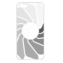 Flower Transparent Shadow Grey Apple Iphone 5 Seamless Case (white)