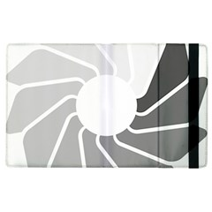 Flower Transparent Shadow Grey Apple Ipad 3/4 Flip Case by Alisyart