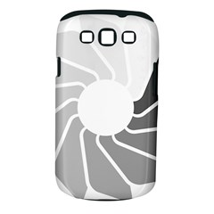 Flower Transparent Shadow Grey Samsung Galaxy S Iii Classic Hardshell Case (pc+silicone) by Alisyart