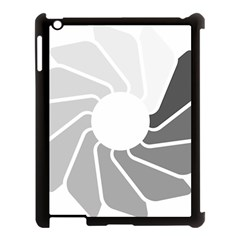 Flower Transparent Shadow Grey Apple Ipad 3/4 Case (black) by Alisyart