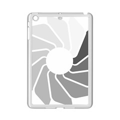 Flower Transparent Shadow Grey Ipad Mini 2 Enamel Coated Cases