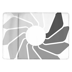 Flower Transparent Shadow Grey Samsung Galaxy Tab 10 1  P7500 Flip Case by Alisyart