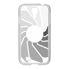 Flower Transparent Shadow Grey Samsung Galaxy S4 I9500/ I9505 Case (white)