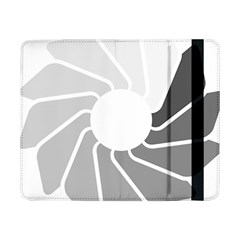 Flower Transparent Shadow Grey Samsung Galaxy Tab Pro 8 4  Flip Case by Alisyart