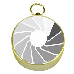 Flower Transparent Shadow Grey Gold Compasses