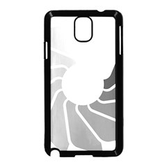 Flower Transparent Shadow Grey Samsung Galaxy Note 3 Neo Hardshell Case (black)