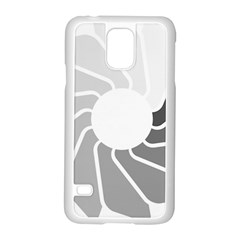 Flower Transparent Shadow Grey Samsung Galaxy S5 Case (white)