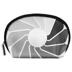 Flower Transparent Shadow Grey Accessory Pouches (large)  by Alisyart