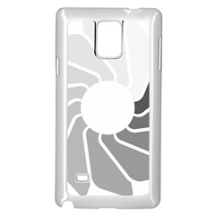 Flower Transparent Shadow Grey Samsung Galaxy Note 4 Case (white) by Alisyart