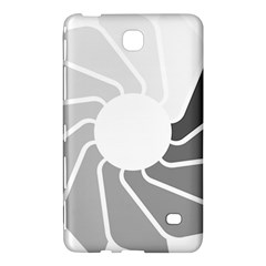 Flower Transparent Shadow Grey Samsung Galaxy Tab 4 (8 ) Hardshell Case  by Alisyart