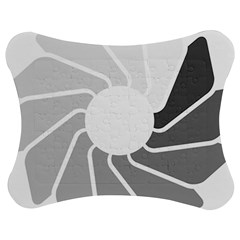 Flower Transparent Shadow Grey Jigsaw Puzzle Photo Stand (bow) by Alisyart