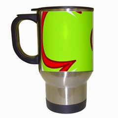 Flower Floral Red Green Travel Mugs (white)