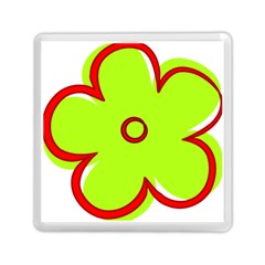 Flower Floral Red Green Memory Card Reader (square)